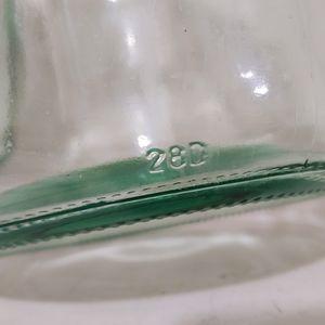 Vintage Kitchen - (3) gallon jug jar glass with handle
